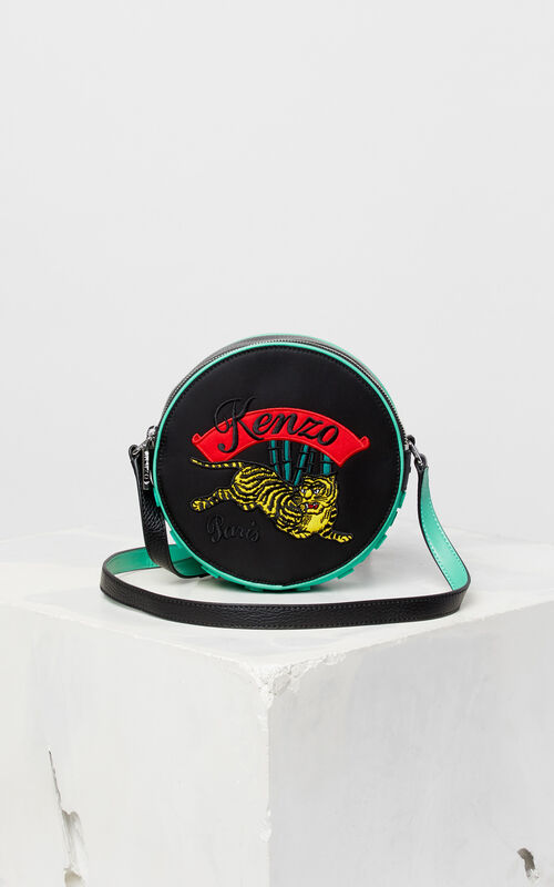 BLACK 'Jumping Tiger' cross-body bag for unisex KENZO