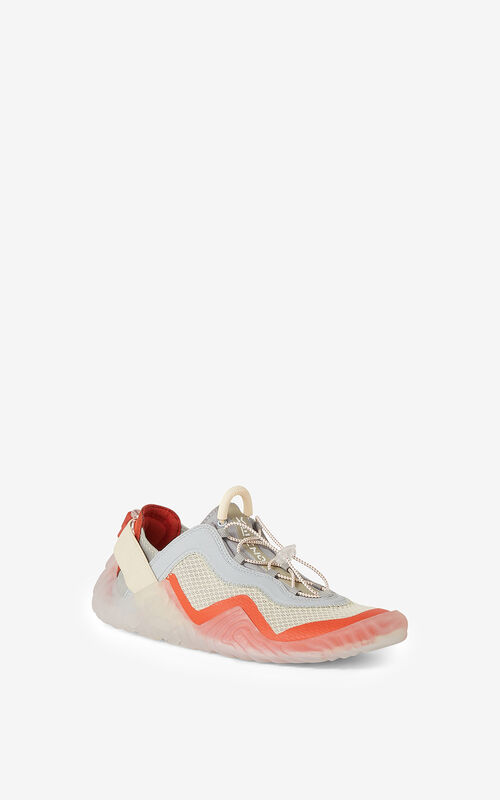 DEEP ORANGE KENZO Sport Wave mesh sneakers    for unisex