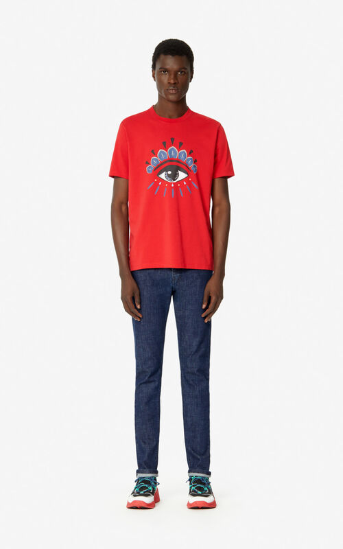 MEDIUM RED Eye t-shirt  for men KENZO