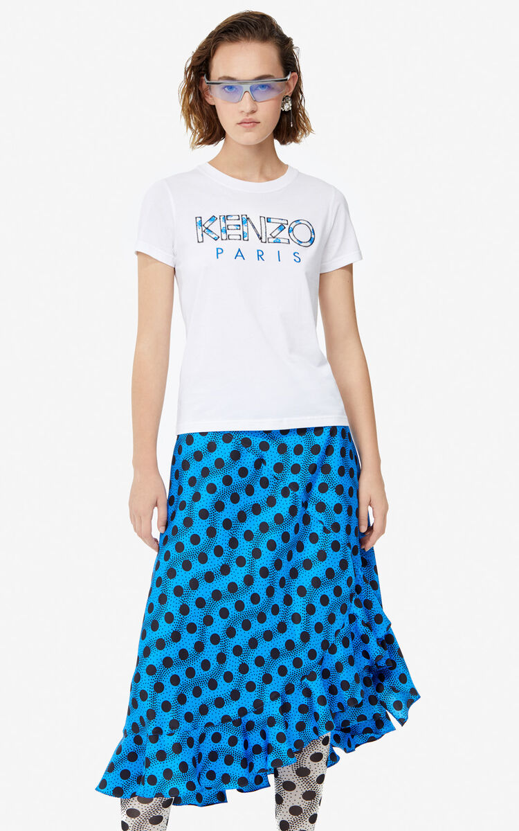 WHITE KENZO Paris 'Roses' t-shirt for women