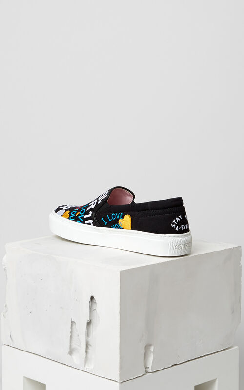 BLACK 'I Love You' K-Skate sneaker for women KENZO