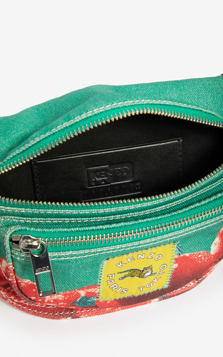 GRASS GREEN 'Tomato' bumbag for women KENZO