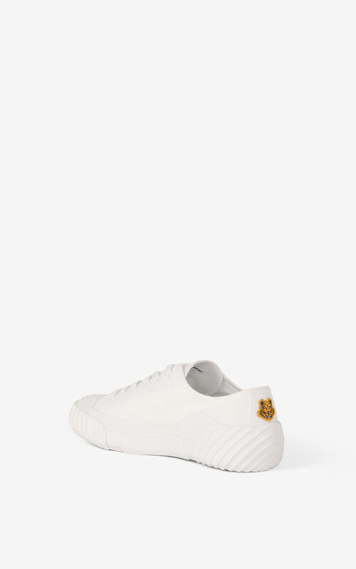 WHITE Tiger Crest trainers for unisex KENZO