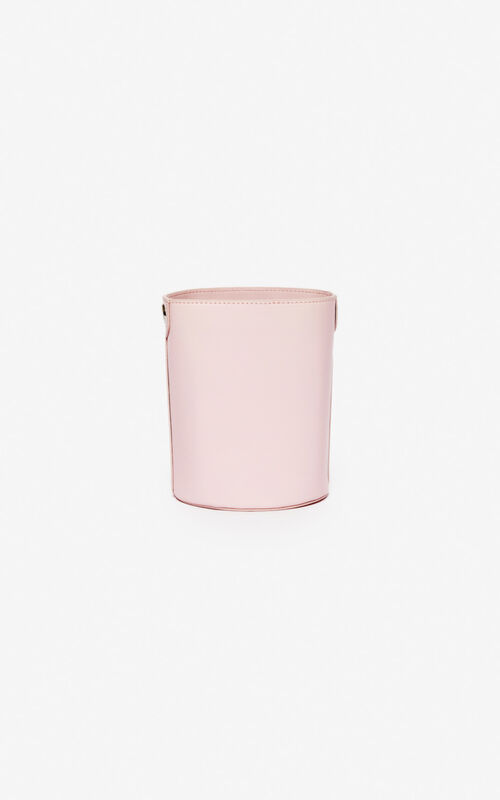 PASTEL PINK Kontact Eye mini bucket bag for unisex KENZO