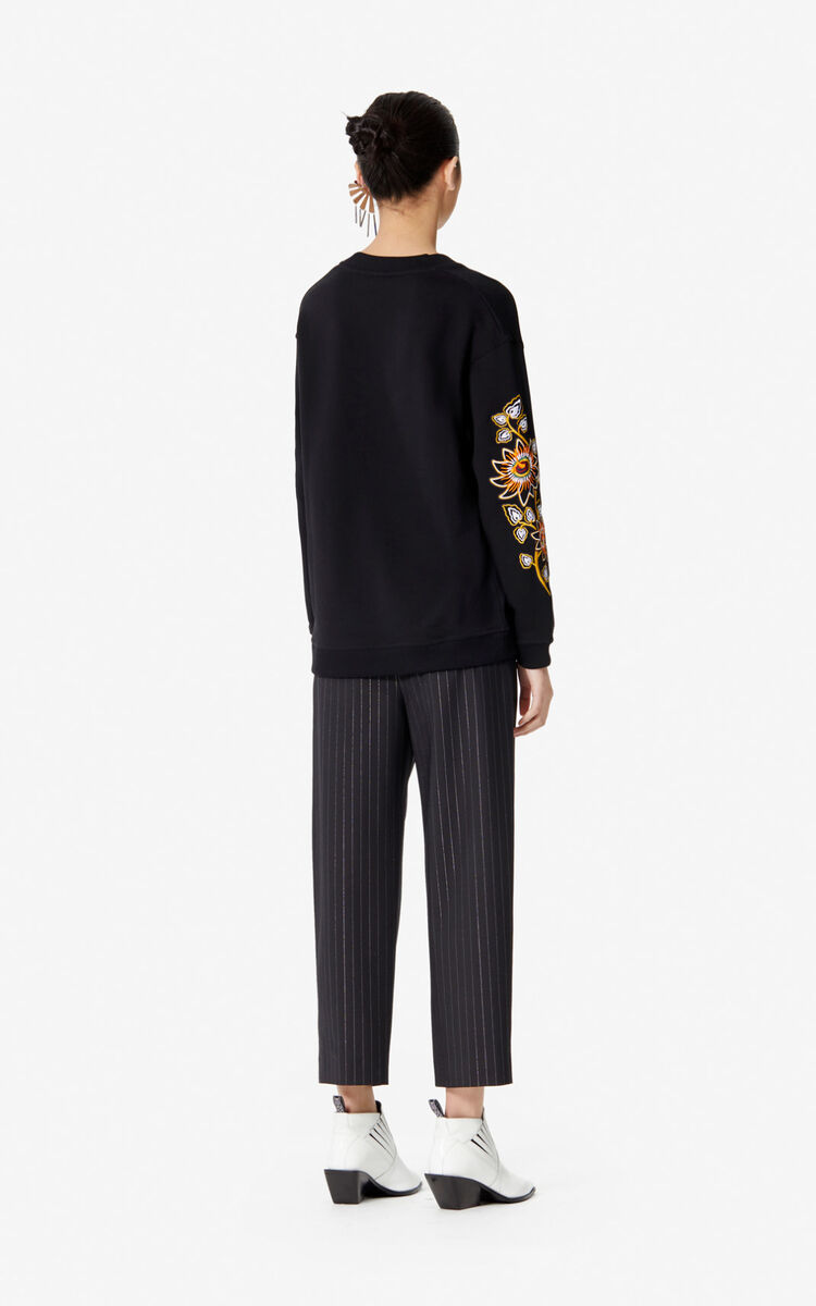 BLACK 'Passion Flower' sweatshirt for women KENZO