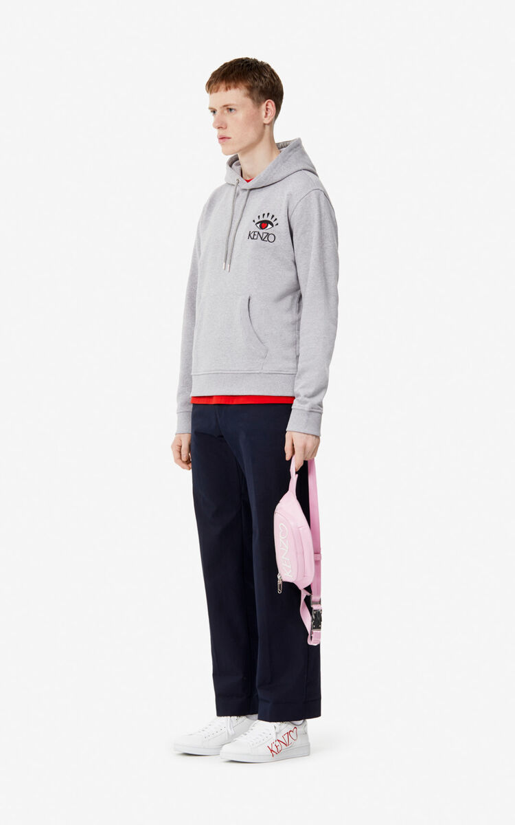 PEARL GREY 'Cupid' hoodie for men KENZO