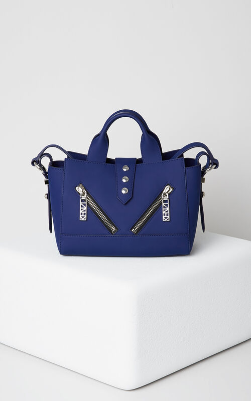 Mini Kalifornia Gommato Leather, NAVY BLUE, KENZO