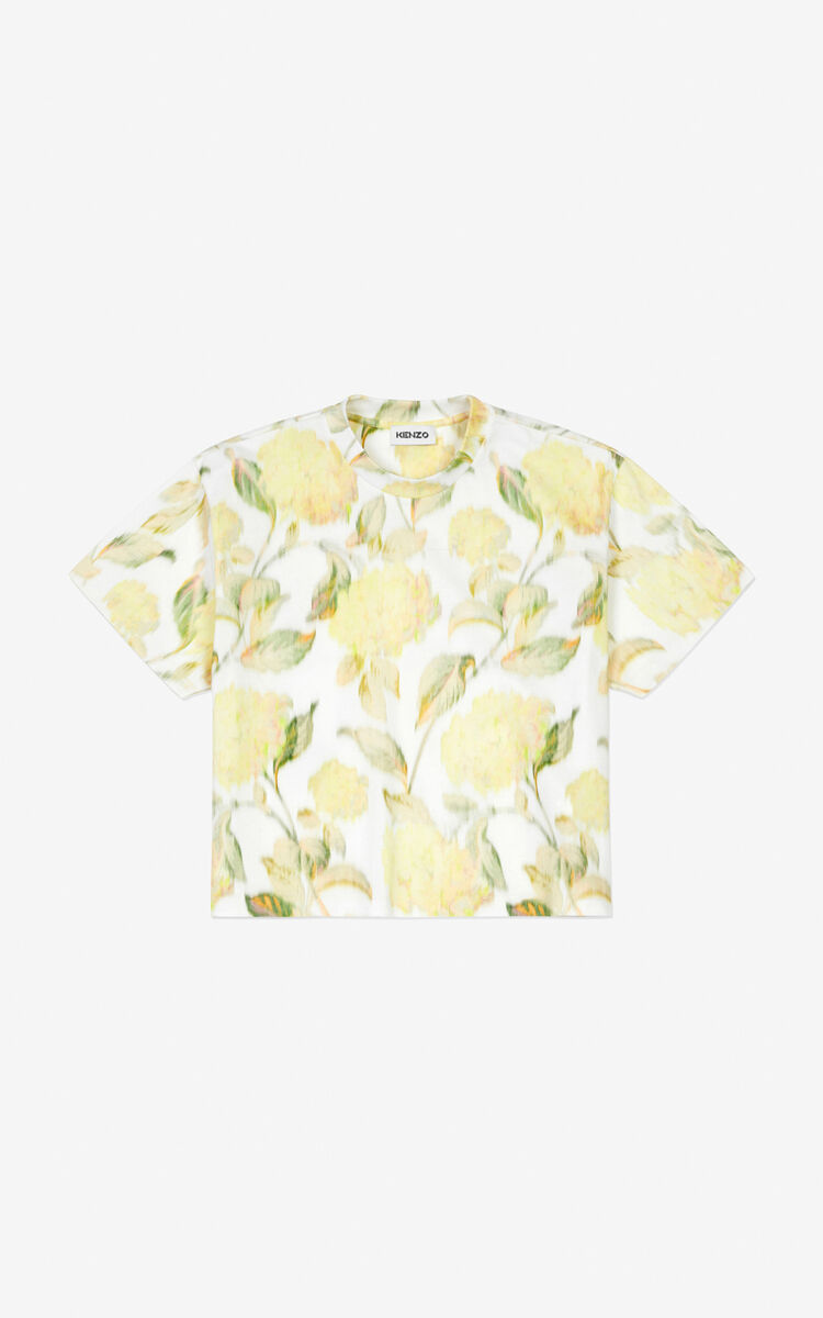 VANILLA Hortensia' boxy T-shirt for women KENZO