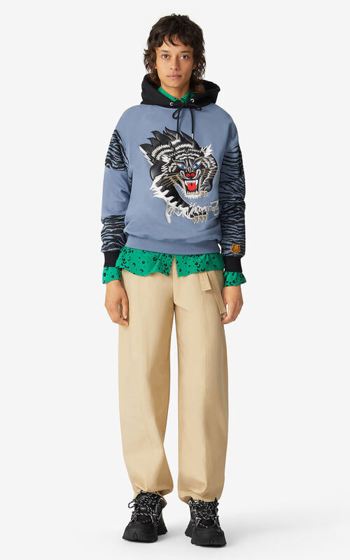 BLUE KENZO x KANSAIYAMAMOTO hooded sweatshirt for men
