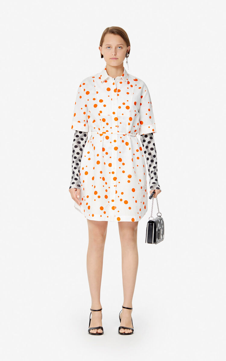 MEDIUM ORANGE 'Dots' shirt dress 'High Summer Capsule collection' for women KENZO