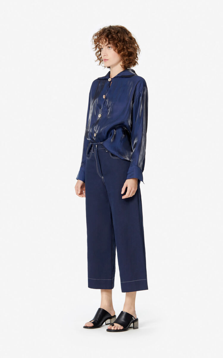 MIDNIGHT BLUE Fluid shirt for women KENZO