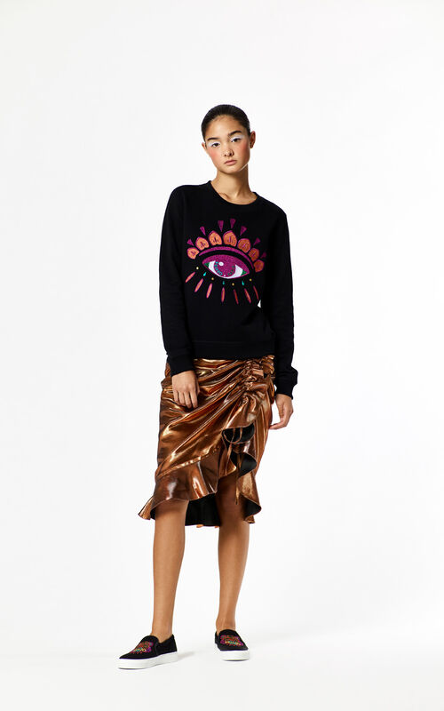 BLACK 'Holiday Capsule Collection' Eye Sweatshirt for women KENZO