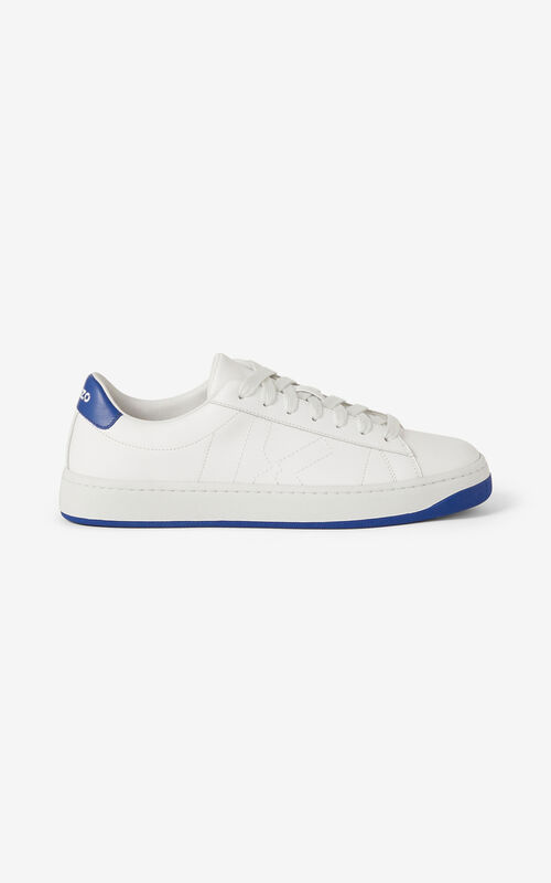 ROYAL BLUE KENZO Kourt K Logo leather trainers for unisex