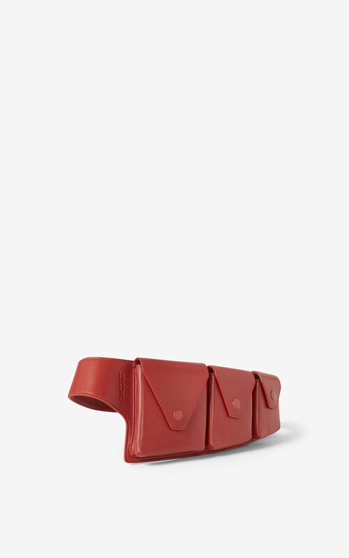 POPPY KENZO Onda leather utility belt for unisex