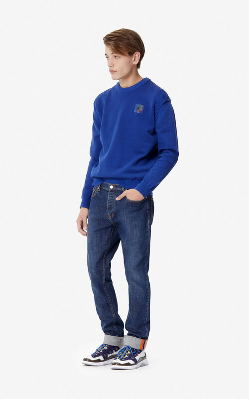 NAVY BLUE Slim-fit jeans for men KENZO