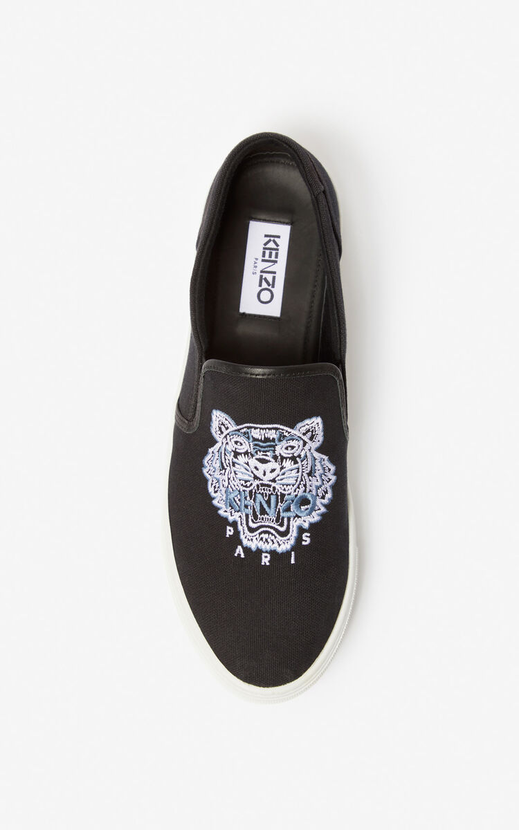 BLACK K-Skate Tiger slip-ons for men KENZO