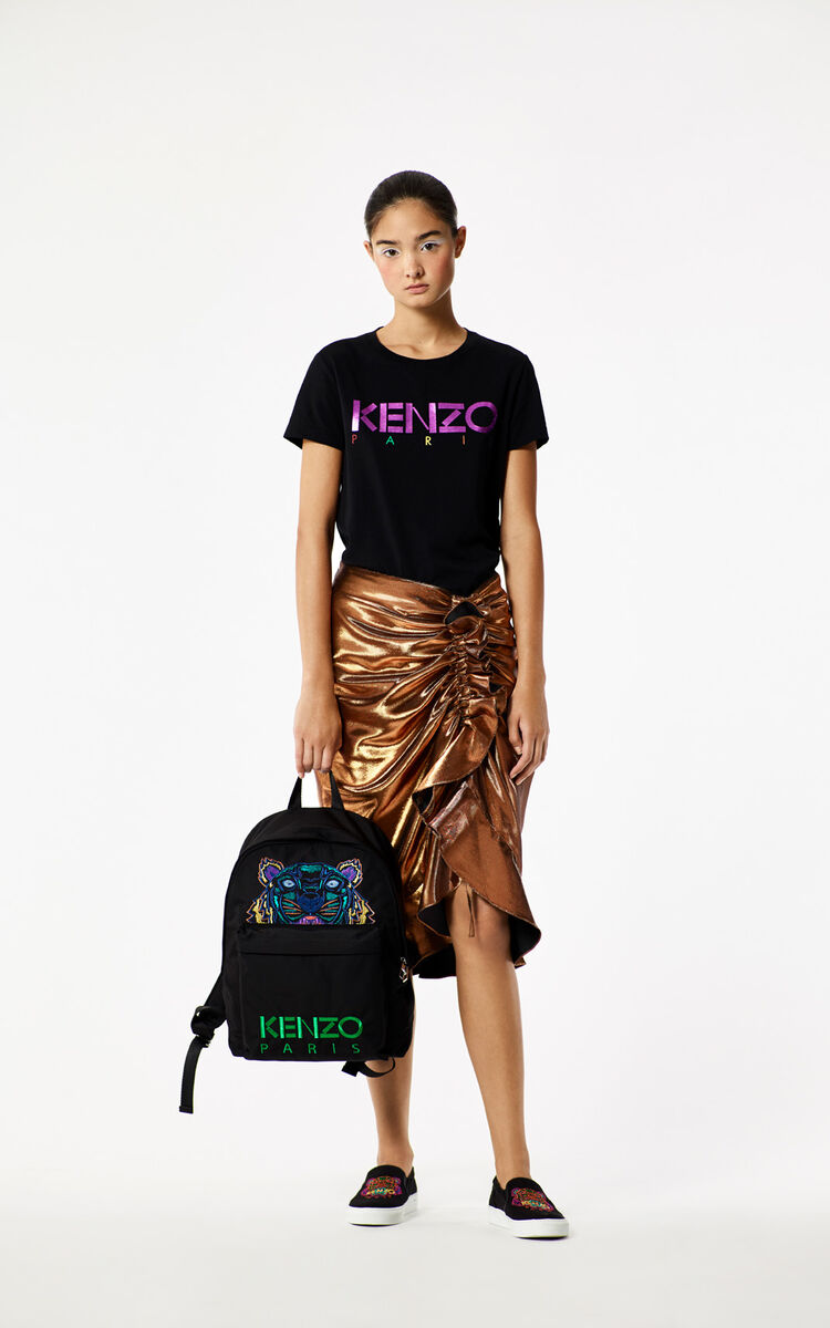 BLACK 'Holiday Capsule Collection' Tiger Backpack for women KENZO
