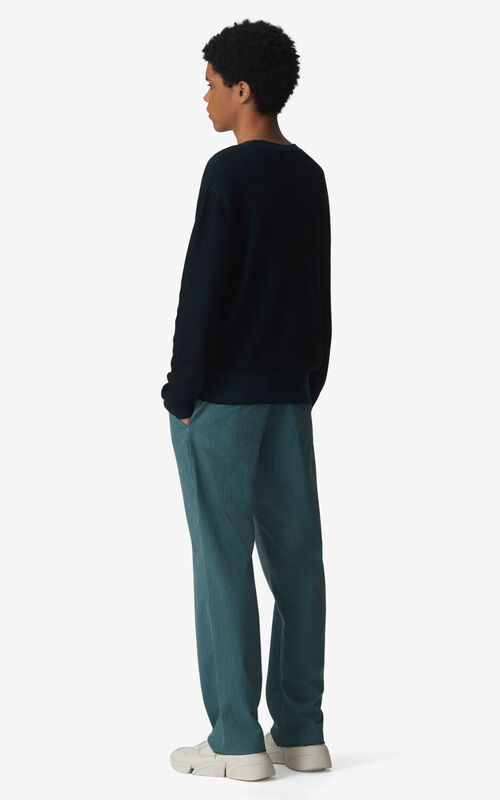 DUCK BLUE Two-tone jumper for men KENZO