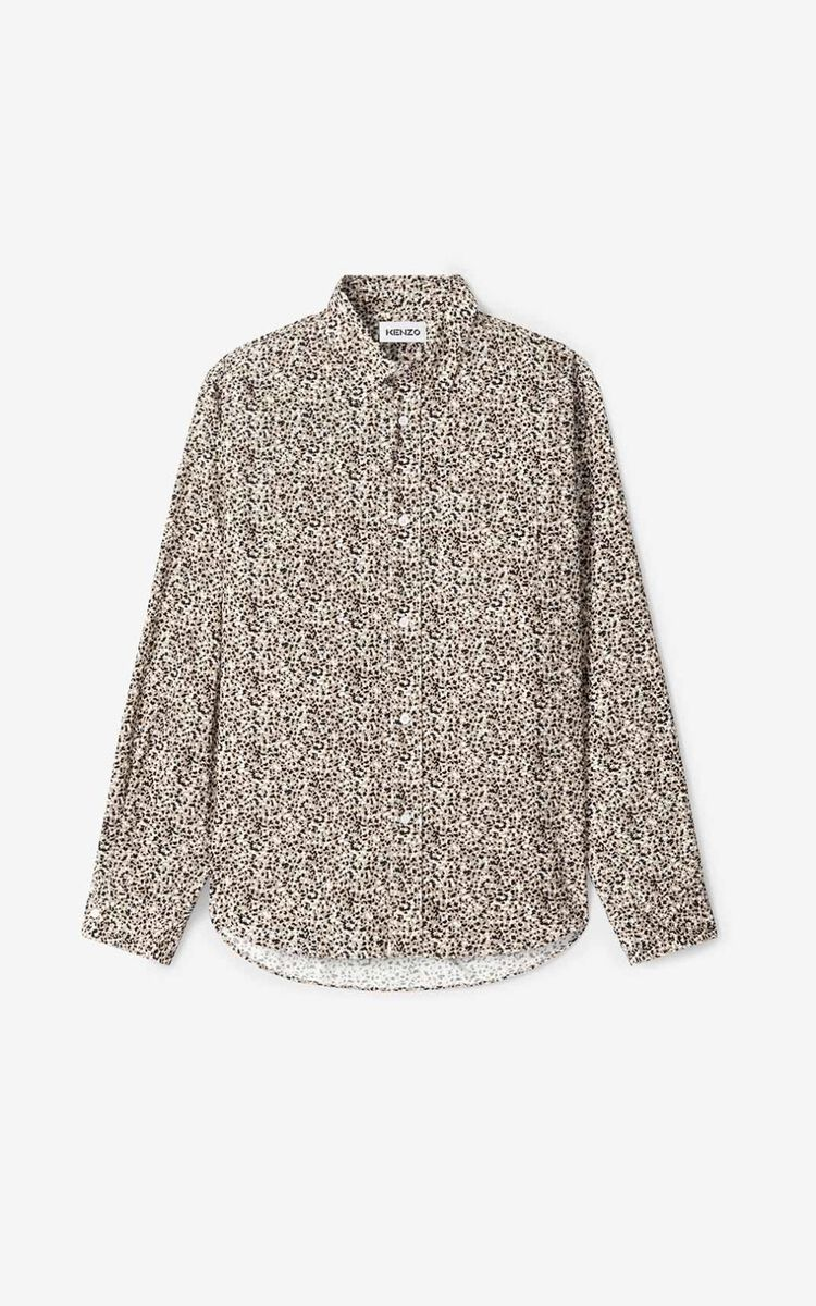 BEIGE 'Micro Camo' casual shirt for women KENZO