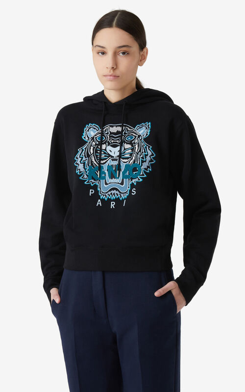 BLACK Tiger hoodie for women KENZO