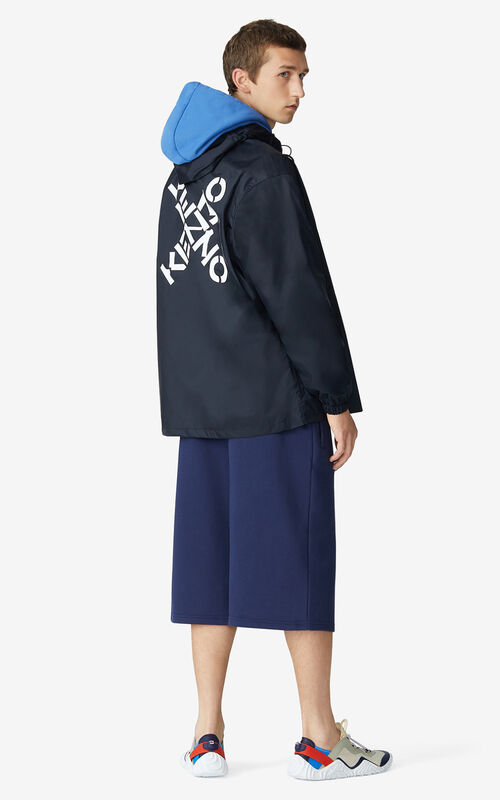 BLACK KENZO Sport 'Big X' wind stopper for women