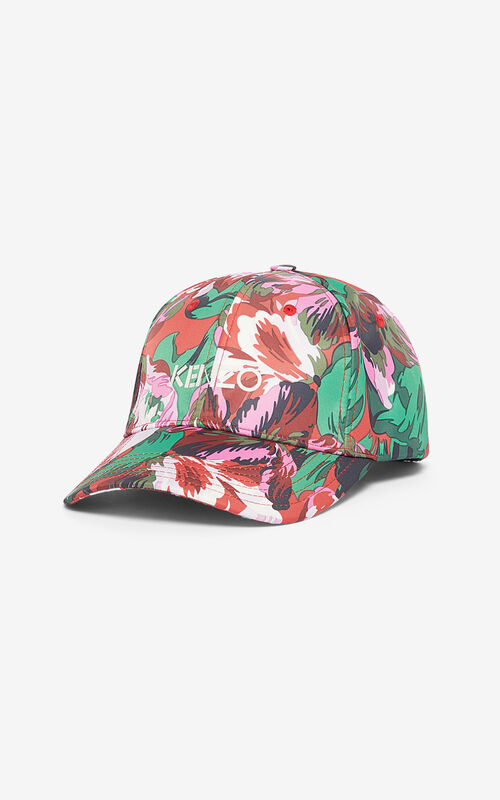 MEDIUM RED 'Tulipes' cap for unisex KENZO