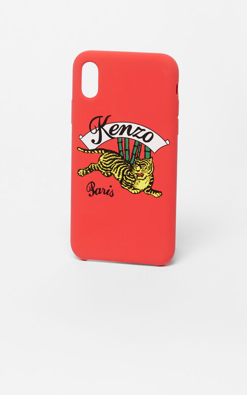 MEDIUM RED iPhone X 'Jumping Tiger' Case for women KENZO