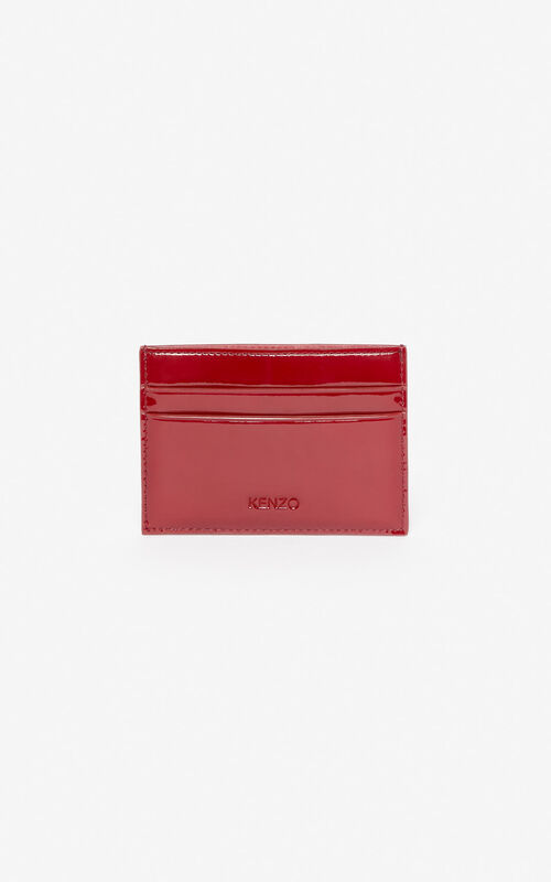 VERMILLION K-Bag patent card holder 'Exclusive Capsule' for unisex KENZO