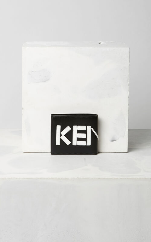 BLACK Colorblock KENZO Wallet  for men