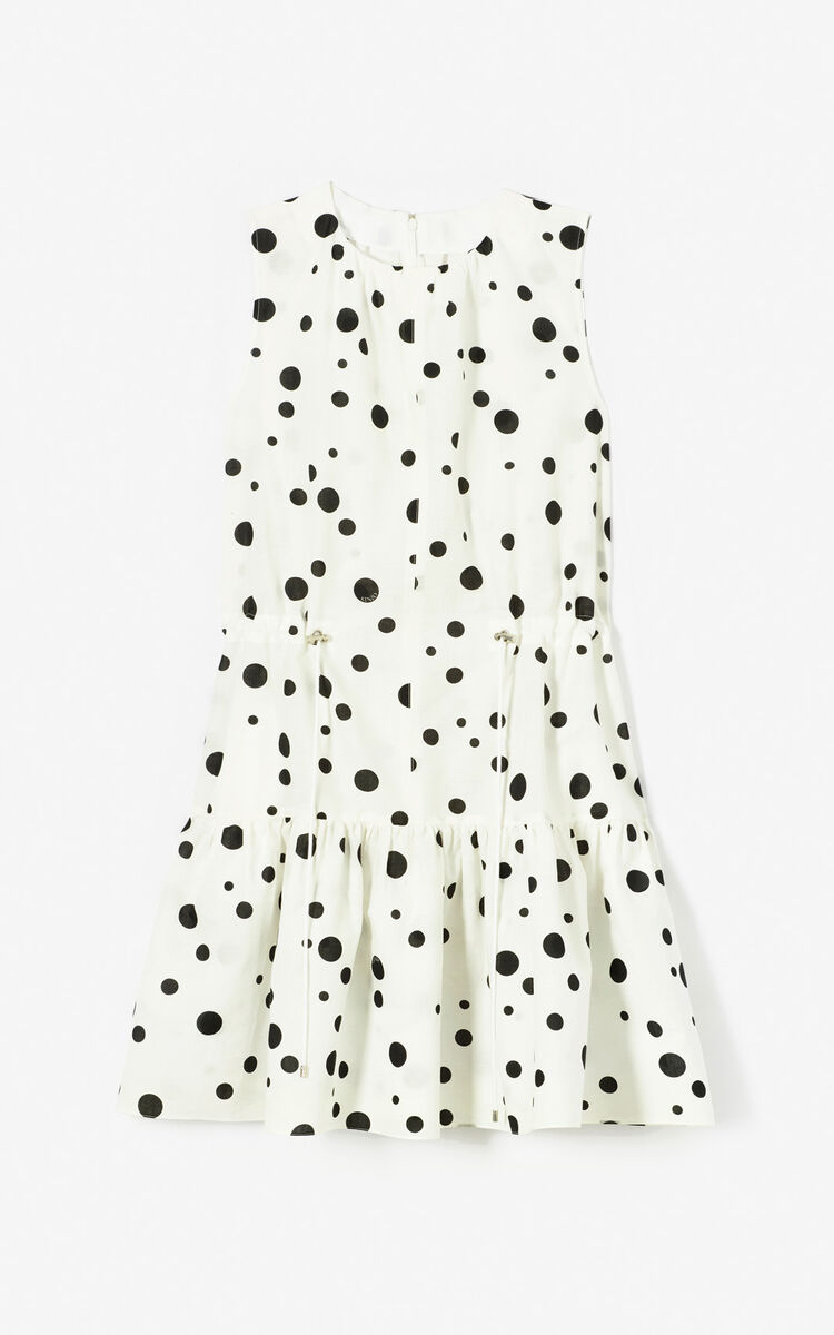 BLACK 'Dots' skater dress 'High Summer Capsule collection' for women KENZO