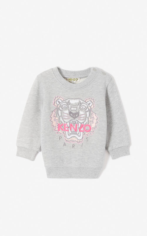 aa71975c95714 MIDDLE GREY Tiger sweatshirt for women KENZO ...