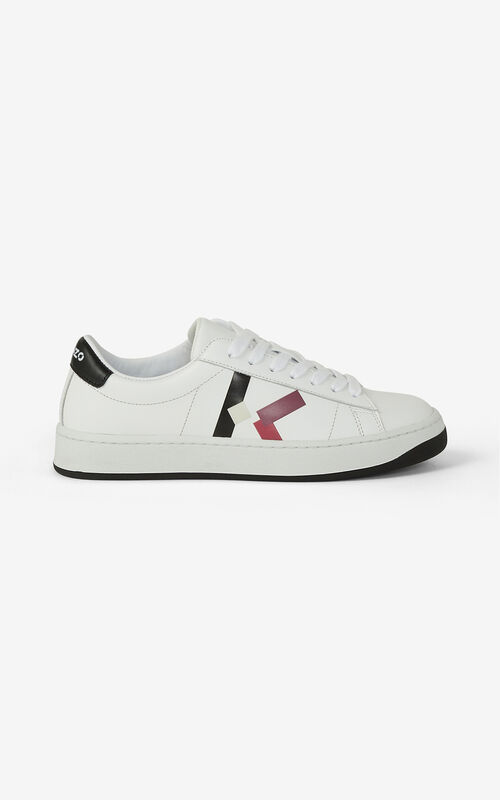 CARMINE KENZO Kourt 'K Logo' leather sneakers for unisex