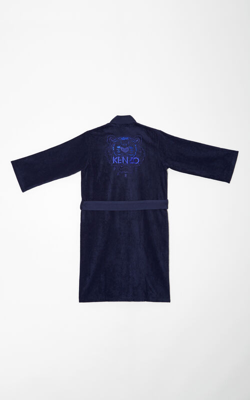 Tiger Dressing Gown, NAVY BLUE, KENZO