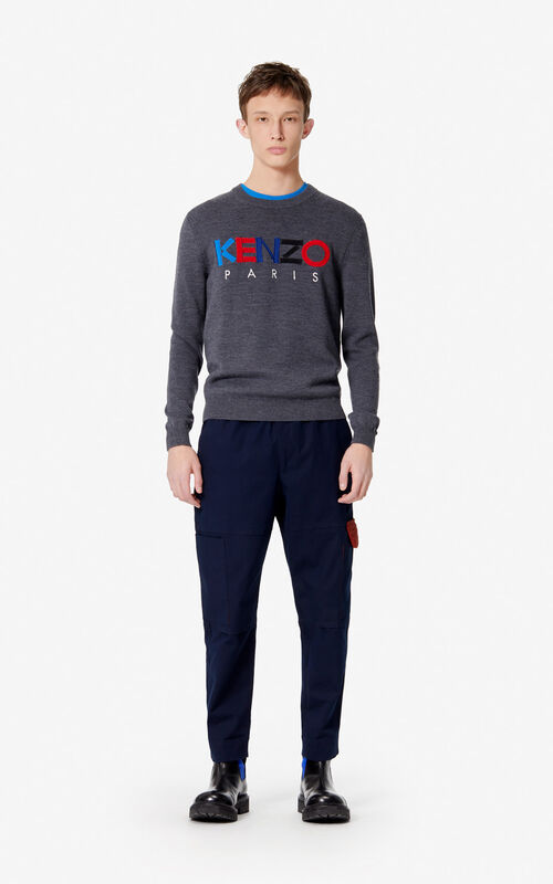 NAVY BLUE Cargo trousers for men KENZO
