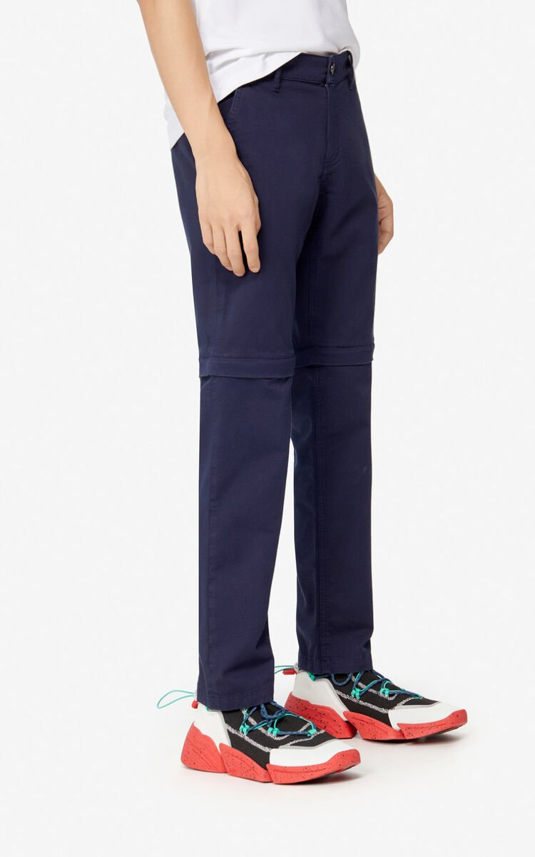 MIDNIGHT BLUE Slim-fit 2-in-1 trousers for men KENZO