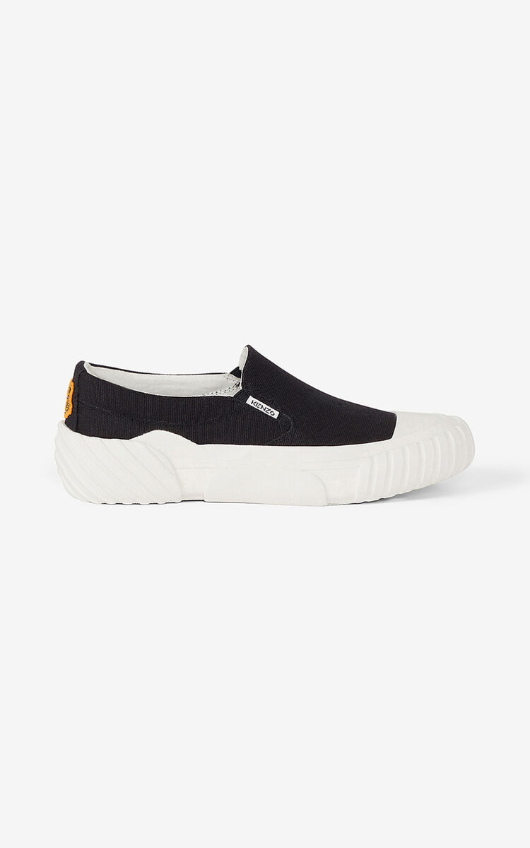 BLACK Tiger Crest lace-free trainers for men KENZO