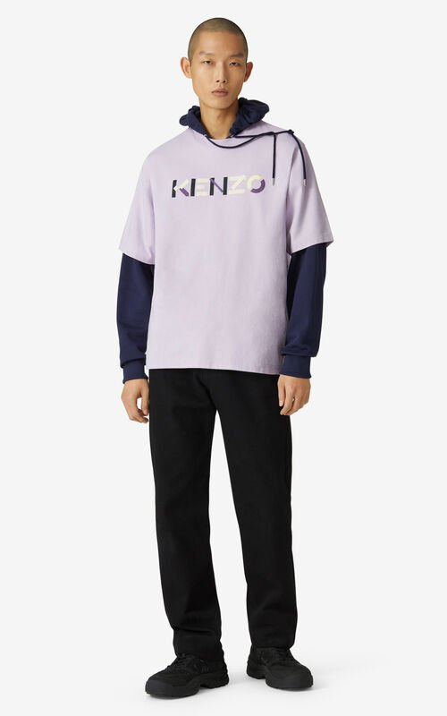 WISTERIA Multicoloured oversize KENZO Logo T-shirt for men