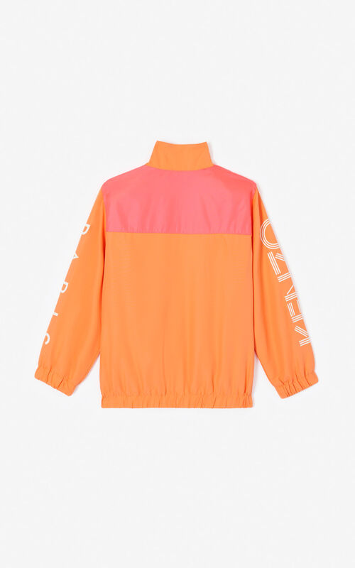 MEDIUM ORANGE Colourblock vest with KENZO logo for men