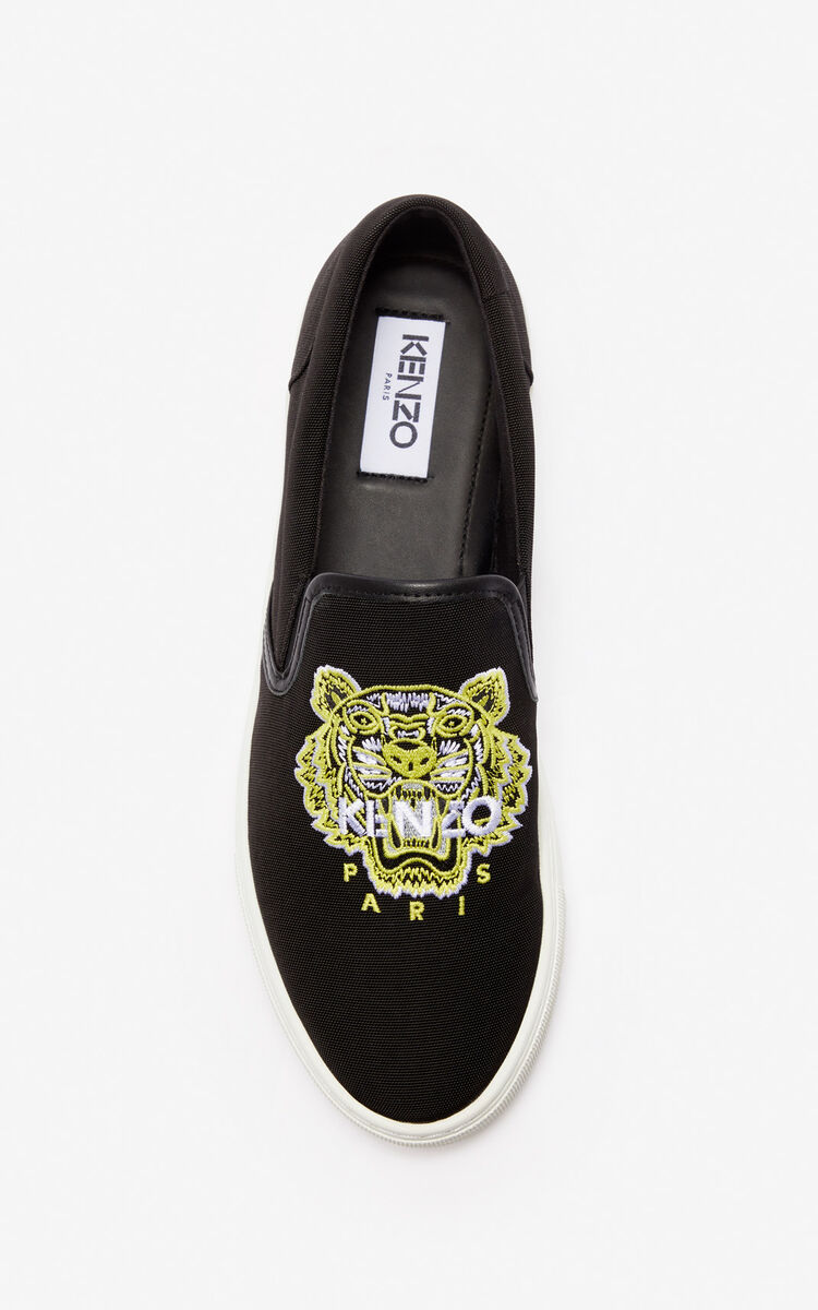BLACK K-Skate Tiger slip-ons 'High Summer Capsule collection' for men KENZO