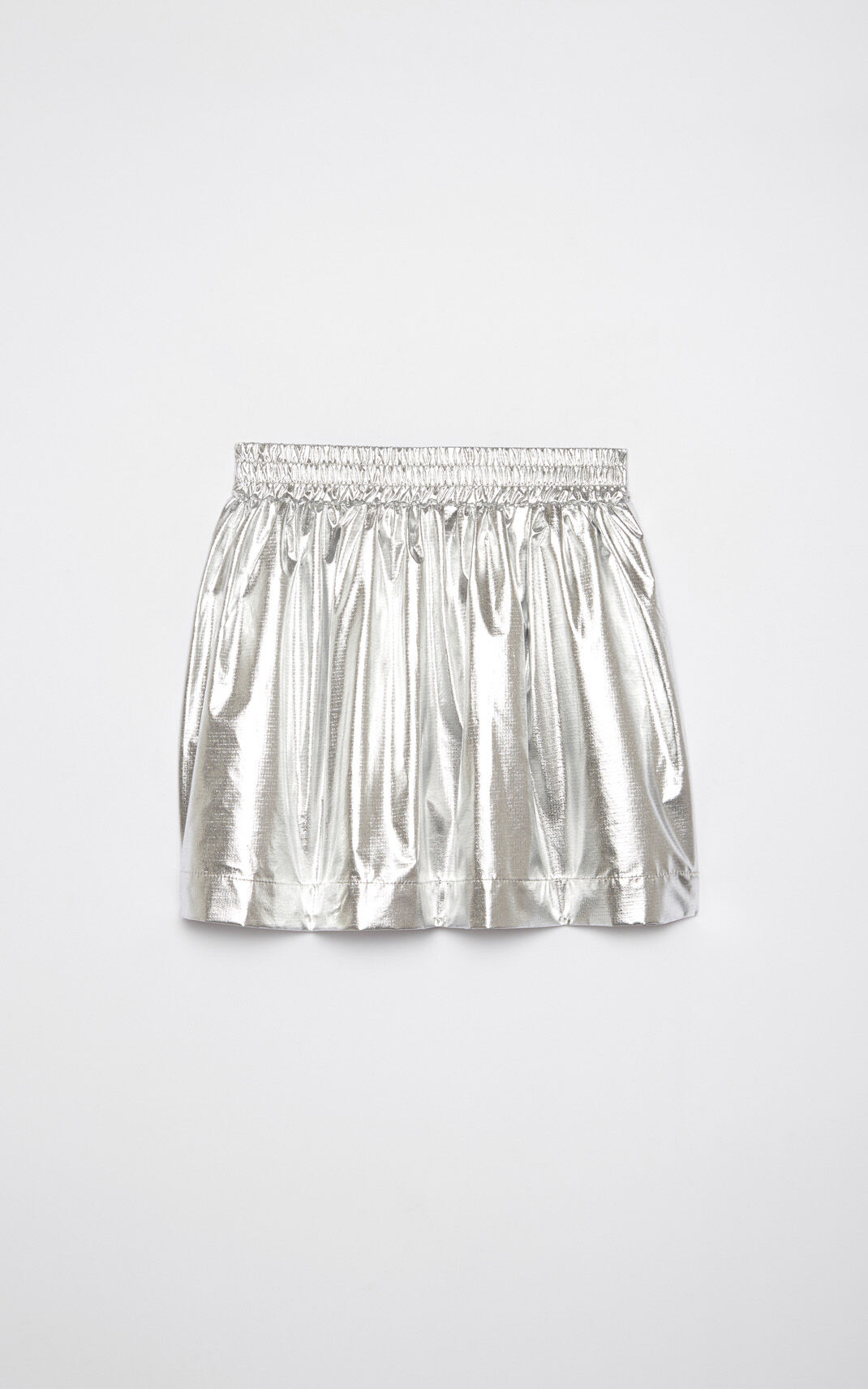 SILVER Iridescent 'Paper Planes' flared skirt for men KENZO
