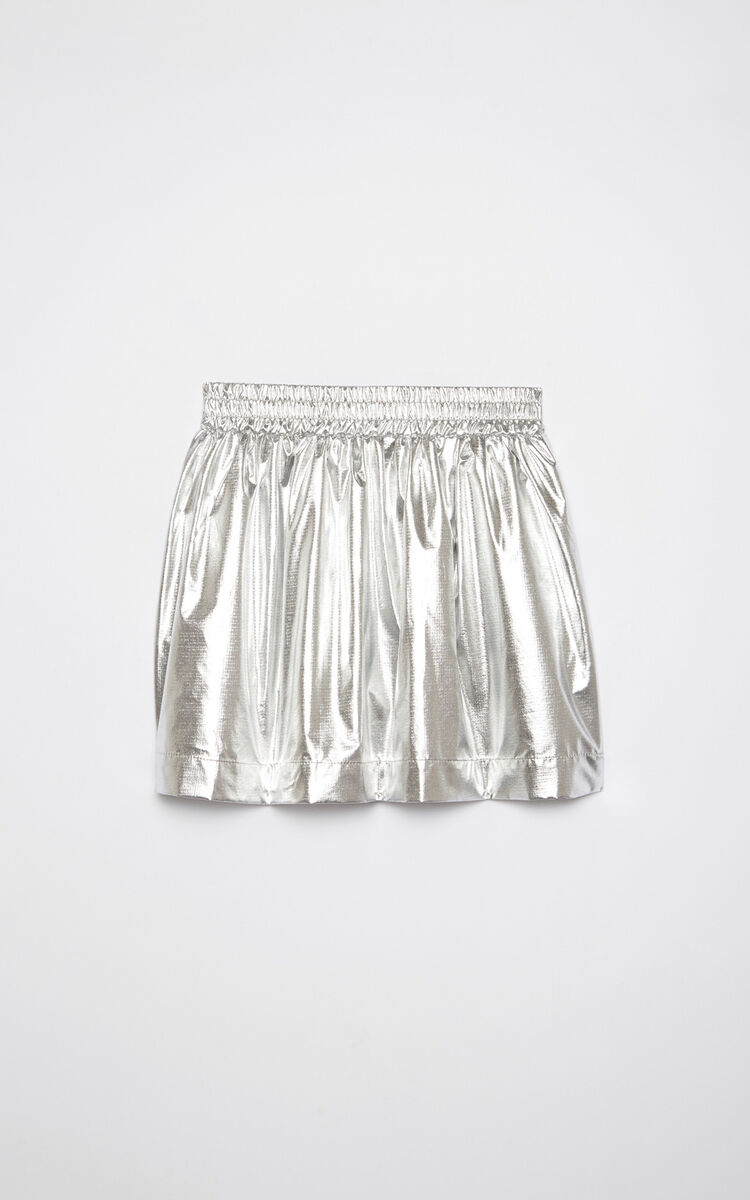 SILVER Iridescent 'Paper Planes' flared skirt for women KENZO