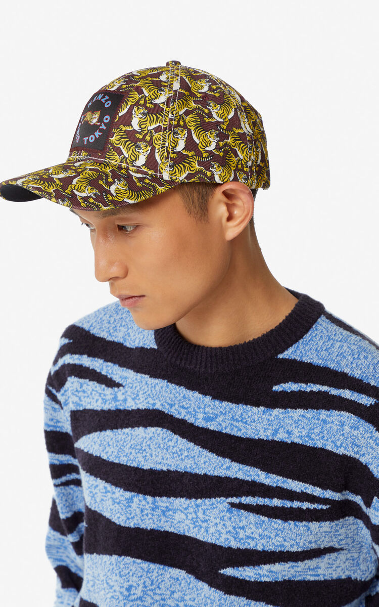 BORDEAUX 'Running Tiger' baseball cap for men KENZO