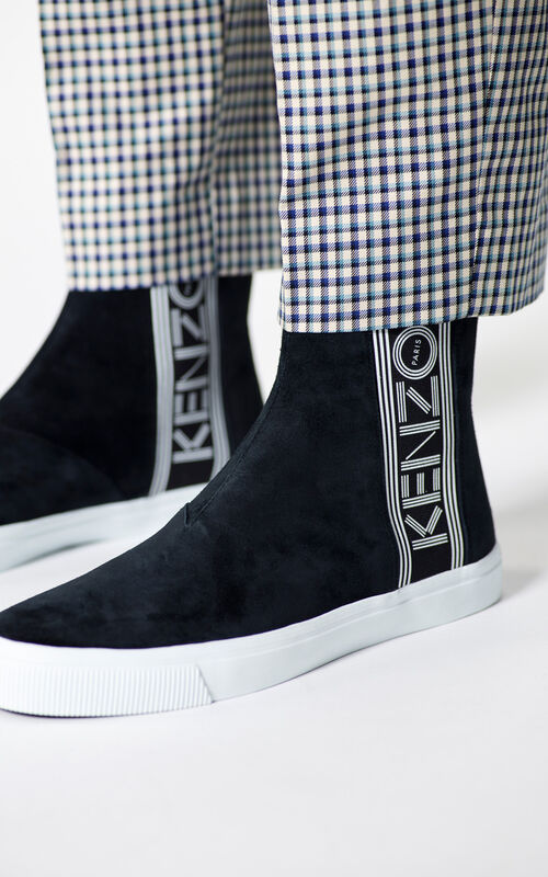 BLACK Kapri slip-on high top shoes for men KENZO