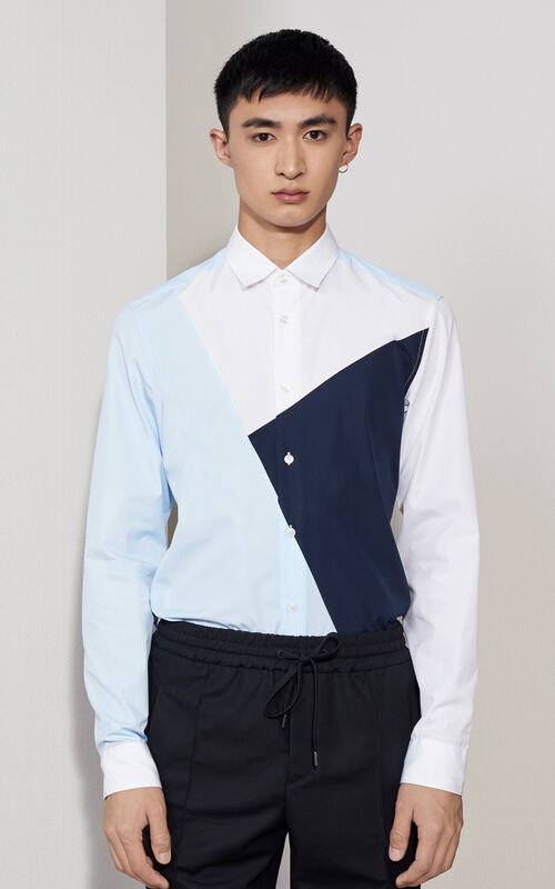 WHITE Patched Shirt  for men KENZO