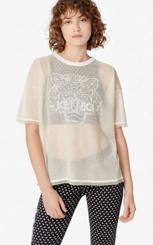 OFF WHITE Knit Tiger T-shirt for women KENZO