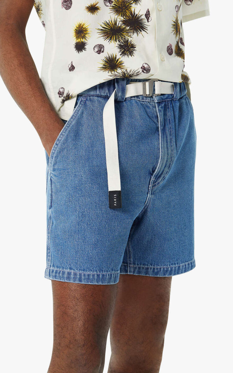 NAVY BLUE 'High Summer Capsule Collection' denim shorts for women KENZO