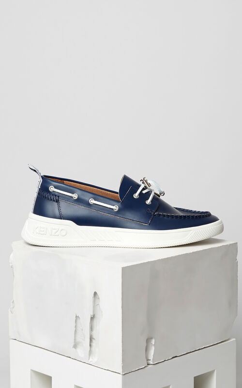 Caleb Boat shoes, MIDNIGHT BLUE, KENZO