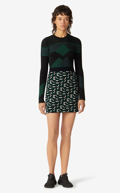 GREEN KENZO Sport jumper for women