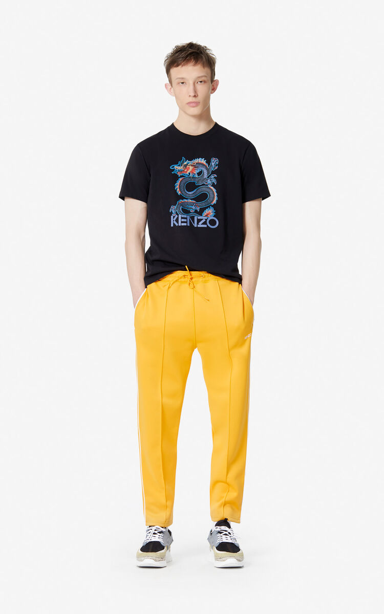 BLACK 'Dragon' t-shirt for men KENZO