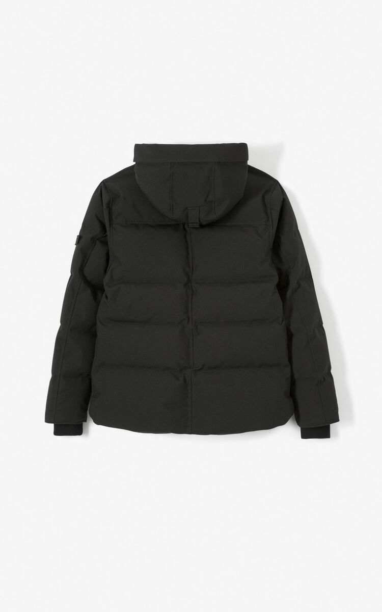 BLACK Quilted puffer jacket for global.none KENZO